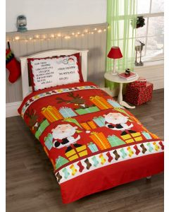 Santa's List Multi Single Duvet Cover