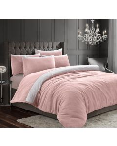 Teddy Beaux Shimmer Pink Duvet Cover