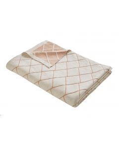 Tess Daly Diamond Knit Rose Gold Throw 130cm x 170cm
