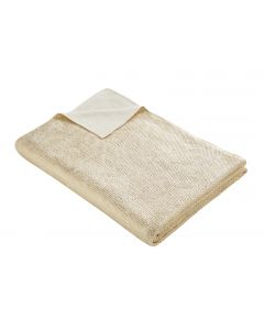 Tess Daly Gold Knit Throw 130cm x 170cm