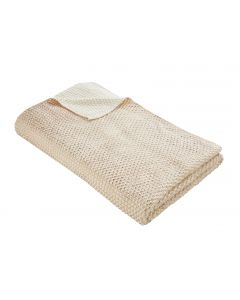 Tess Daly Rose Gold Knit Throw 130cm x 170cm
