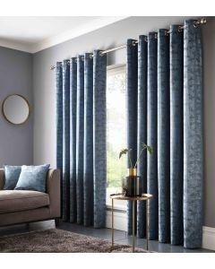 Studio G Topia Teal Blue Ring Top Curtains