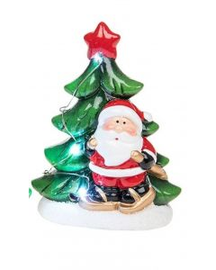 Boxed Father Christmas Large LED light up Tree Santa