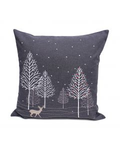 Peggy Wilkins Winter Woods Cushion