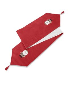"Christmas Xmas Claus Red Table Runner 13"" x 72"" (33 x 183cm)"
