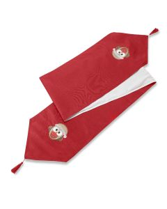 "Christmas Xmas Owl Red Table Runner 13"" x 90"" (33 x 229cm)"